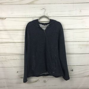 Michael Kors Navy White Zip Pullover Sweater
